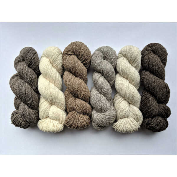 Yarn - Worsted CVMco, Black Heather